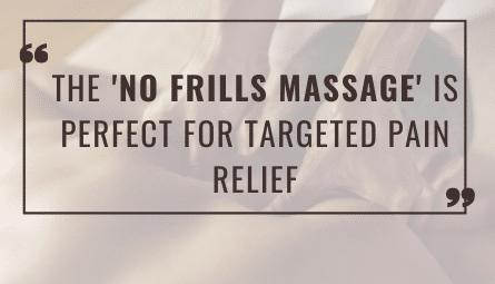 Back Pain Massage Treatment
